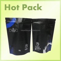 stand up heat seal zipper food packaging / heat seal resealable plastic bags for food