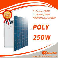 250wp solar pv modulel of paneles solares for system