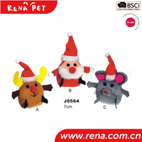 2016 high quality funny colorful cats toy pet toys with christmas cat