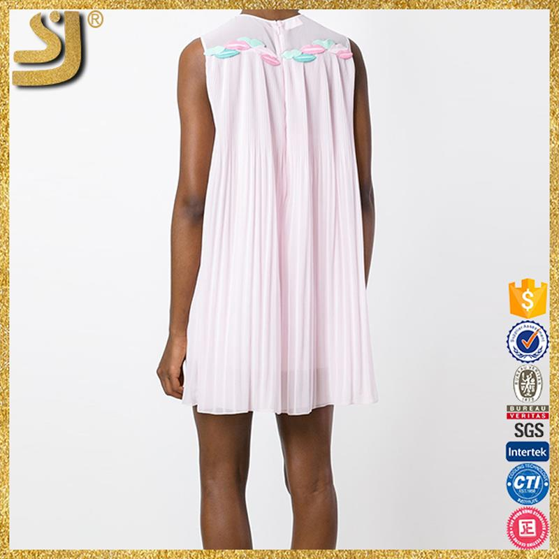 SHANGYI casual ladys cotton masakali dress, formal one shoulder dress pattern, lace pleated chiffon dress