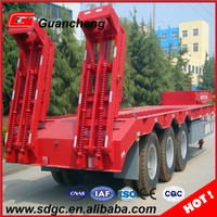 best price 3 axle low bed 100 ton trailer