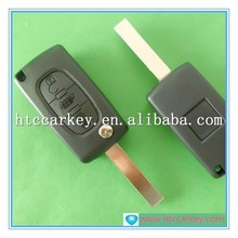 flip key remote 3 button for Fiat folding key case