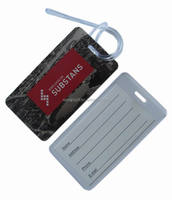 personalized printed plastic luggage hang tag
