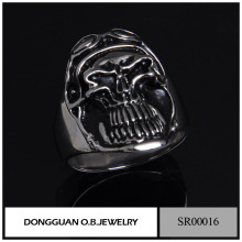 925 Sterling Silver Mirco Setting Skull Man Ring/Men Gay Stainless Steel The Expendables Skull Ring