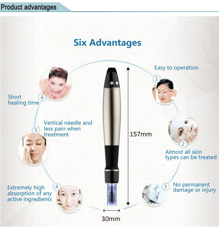 2018 distributors wanted Professional Derma roller pen /derma stamp electric pen for home use and SPA