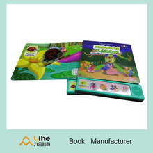 Preschool Education Children Board Book Printing on Demand Children Sound Book with Recordable Muscie OEM Printing Manufacturer