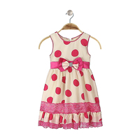 Hot New Products For 2015 Party Girls One Piece Dress Polka Dot Dress Fabrics