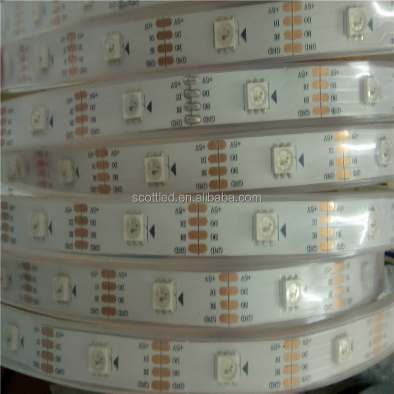 Double Signal smd5050 WS2813 60 led Waterproof RGB LED Strip IP68