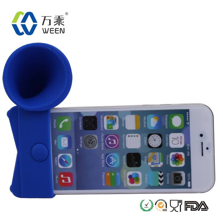 Mini Speaker Portable Silicone Horn Stand Amplifier Speaker Hands Free Loudspeakers For Apple iPhone 6 5 5S 5C 4 4s