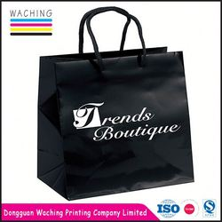 2016 best quality hot sales custom paper shopping bag jewelry drawstring bags