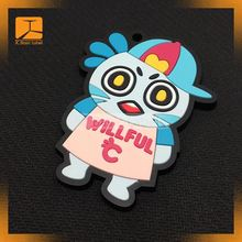 custom 3d design printing t shirt rubber silicone heat transfer patch