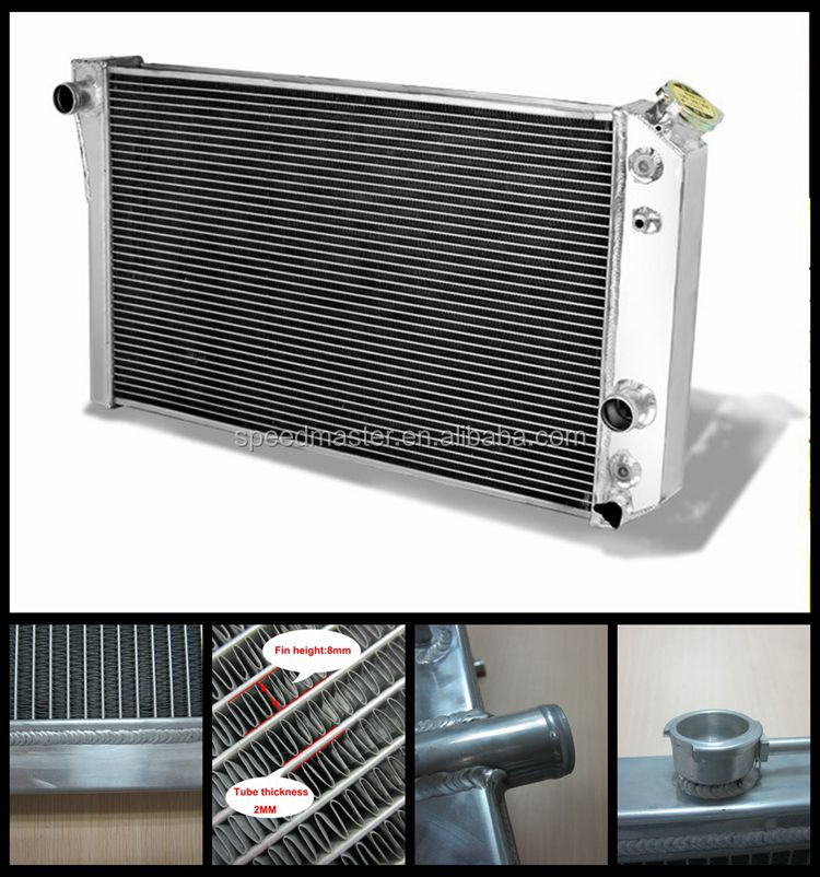 Aluminum design cast iron car water coolant radiator for Chevy
