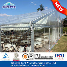 HAIKOU 30x30m Beautiful wedding decoration clear roof party canopies marquee party wedding tent for sale in south africa