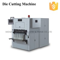QC-750 automatic paper cup die cutting machine used die cutting and creasing machine