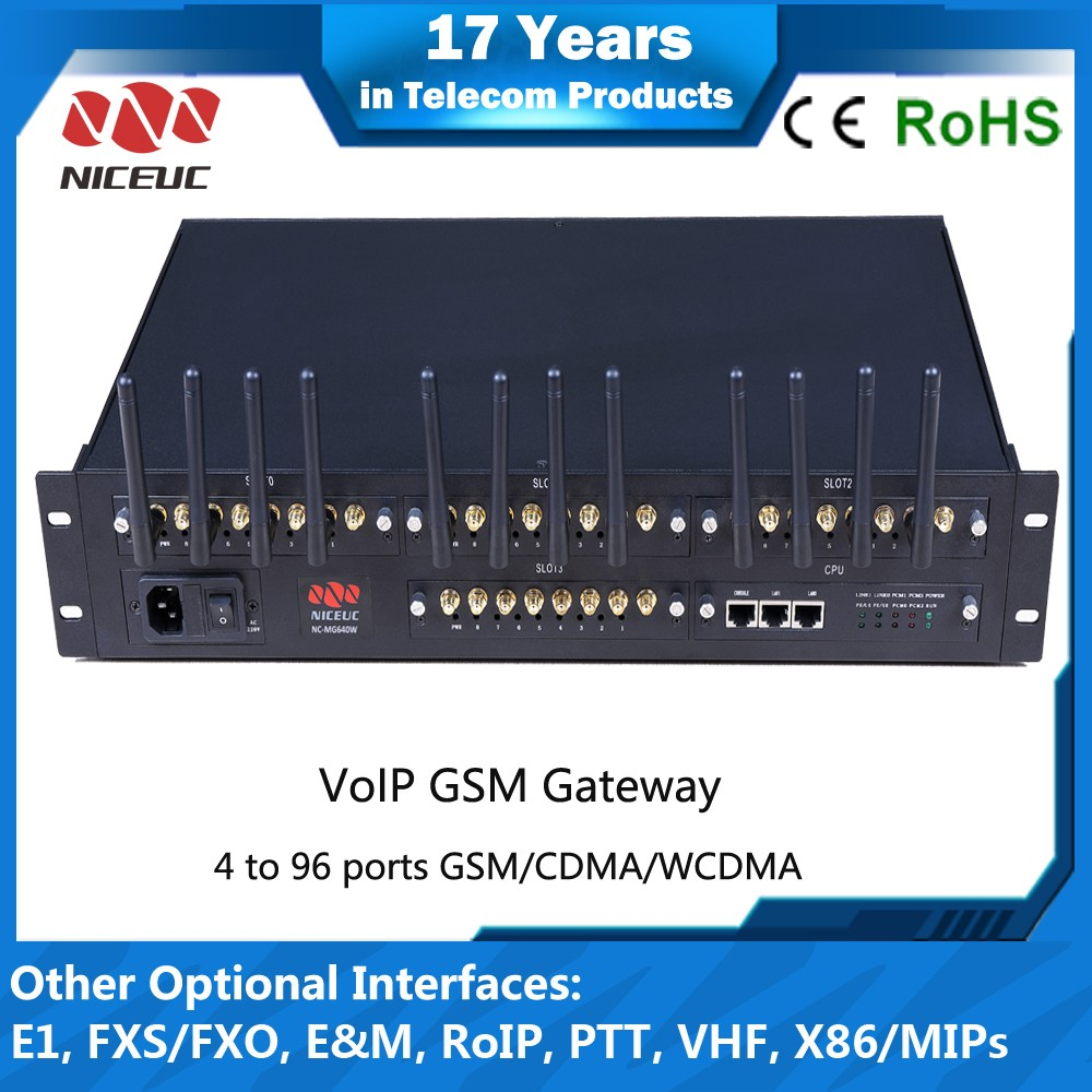 Latest design GoIP with 16,32,64, 96 VoIP channels GoIP GSM gateway with SIP 2.0 protocol