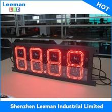 factory gas price signs digital solar powered outdoor clock bluetooth led display sign