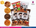 custom printing snack packaging back seal air filled bag