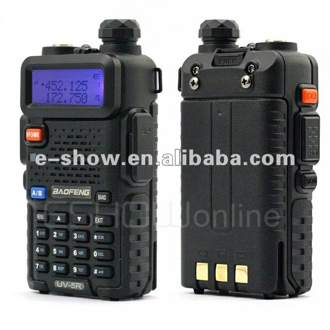 Updated Highly cost-efficient 5W 128CH Popular Dual Band original UHF VHF baofeng uv5r wireless tour guide system