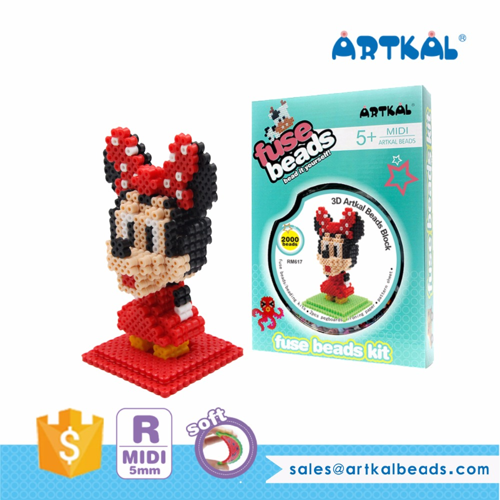 Artkal 3D Diy Crafts Mini Hama Beads for Kids