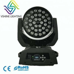 Zoom Led Moving Head Wash 36 RGBW 4-in-1 DMX Moving Head Stage Light
