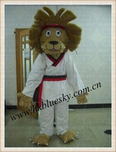 adult size brown hair lion mascot for school activities