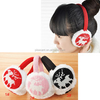 fashion winter knitted cute earmuffs for girl