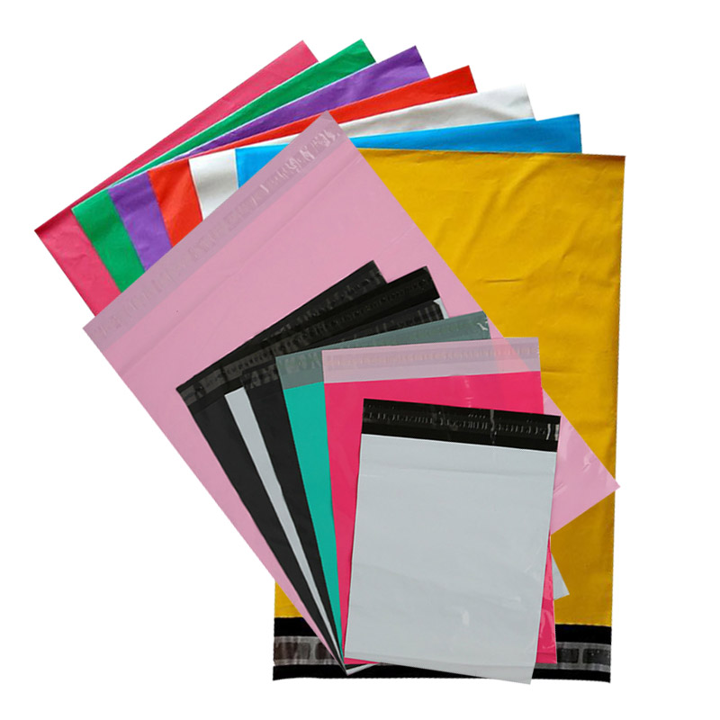 In Stock 25*35cm 10*15in Cheap White Black Green Grey Mailing Bag Pink <strong>Poly</strong> Mailer Custom Logo Mail Courier Envelope Bag Plastic