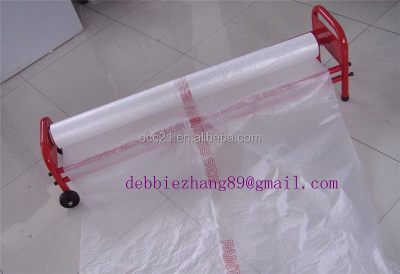PE Painting multifolded plastic sheet masking film with static