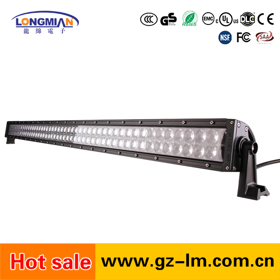 High Power 300W Dual Row Off Road Straight Curved auto led light bar