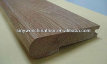 Natural Color Solid Oak Wood Stair Nose Skirting For House