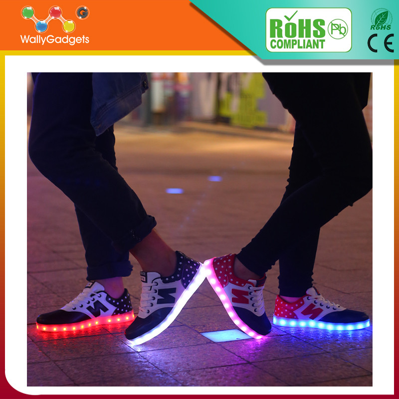 Wallygadgets, New Style Colorful Running Sport Shoes Women And Man LED Light Shoes Adult LED Light Up Shoes
