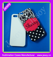 JESOY High Quality Cell Phone 3D Sublimation Blank For iPhone 5S PC Case Cover