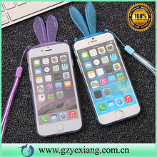 New products pretty movable bunny rabbit ear soft tpu case for iphone 5s back cover