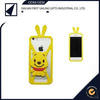 Popular silicone animal shaped cheapest waterproof phone cover for iphone iphone5/5S