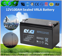 12V 100AH Electric Appliances Electric Toys VRLA Rechargeable Battery