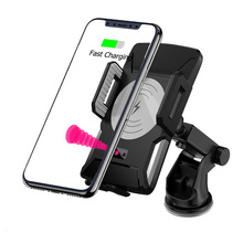 2019 Newest Fashion Automatic Clamping Fast Charging <strong>Phone</strong> <strong>Holder</strong> Mount Smart Sensor Wireless Car Charger