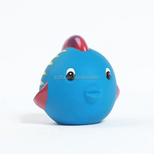 Cheap price custom safe material PVC cute blue sea fish vinyl toy for promotional