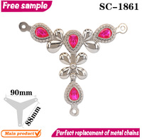 Beautiful and cheap accessory flip-flop chain for women shoe