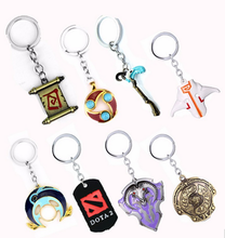 Hot Games Jewelry Dota 2 Metal Keychains Hearthstone Keyring Pendant Keyfinder Holder For Car Chaveiro
