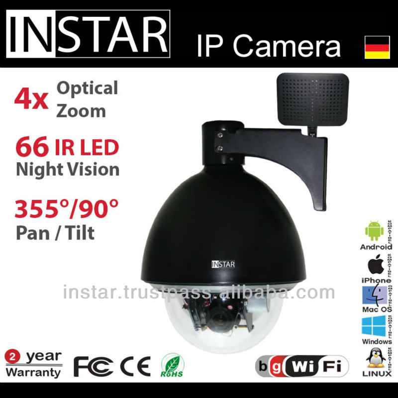 INSTAR IN-4011 Wireless Secrurity Camera with 66 IR-LED