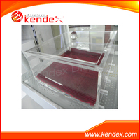 large clear acrylic cube display showcase stand guangdong manufacturer