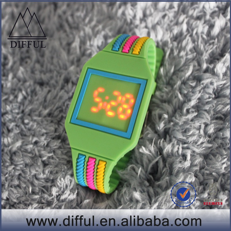 promotion gift led touch watch silicone