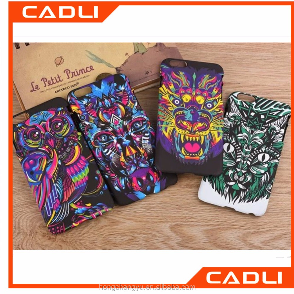 Special Painted Totem Chinese Style Fashion Phone Case Plastic PC Fluorescent Mobile Phone Case for Iphone 6s 6 plus