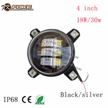 4 inch motorcycle fog light 18 wattage 30 wattage semi truck led fog light