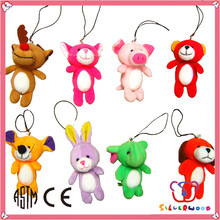 ISO 9001 Factory fashion soft lovely leather keychain toy
