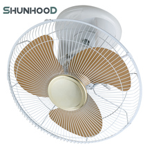 16'' (40cm) Plastic Electric Orbit Fan Wall Mount Ceiling in New Design with Rotary Switch Control and Metal Blades