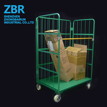 Logistic equipment folding table trolley roll container