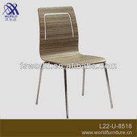 bent plywood buffet chair/restaurant chair in good quality