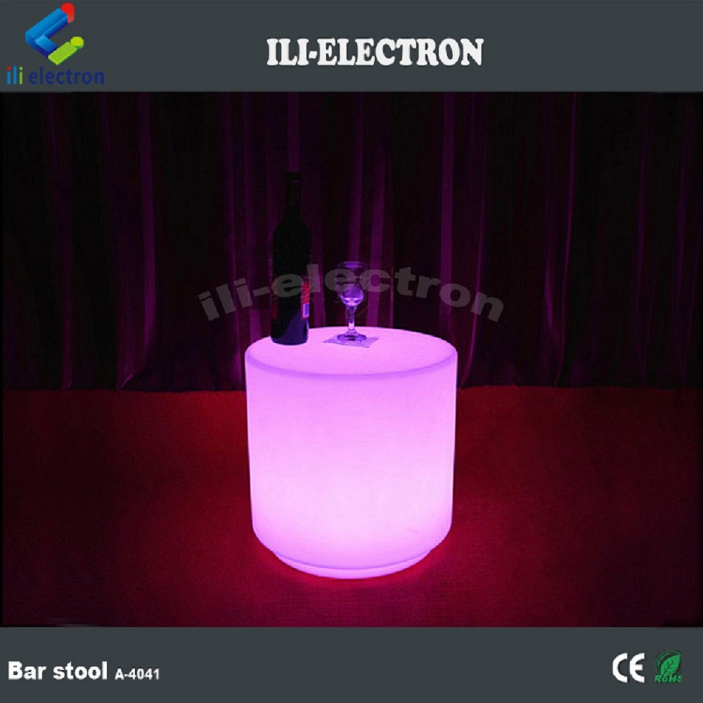 Modern PE plastic led furniture outdoor used bar stool/chair