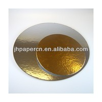 factory direct sale glossy surface disposable gold cake paper circles